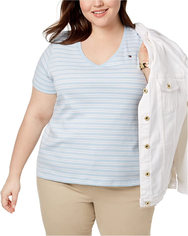 Tommy Hilfiger Womens Striped Basic T-Shirt