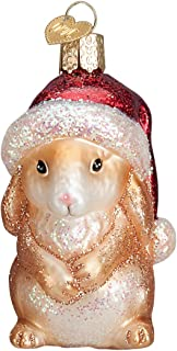 Old World Christmas Ornaments: Christmas Bunny Glass Blown Ornaments for Christmas Tree