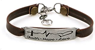 Leather Bracelets Jewelry for Women Inspirational Bracelets Gift for Her