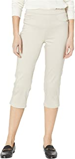 D-Lux Denim Pull-On Capris in Almond Almond 12