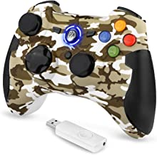 TOGETOP 2.4G Wireless Game Controller Joysticks, Dual Vibration, Turbo PC Gamepads for Window PC /PS3/Android Phone Tablet