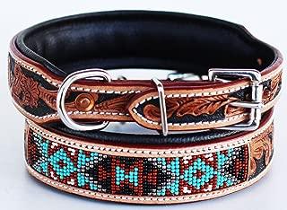 leather beaded dog collars