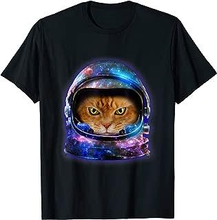cat in space helmet t shirt