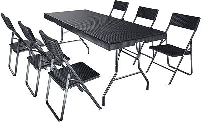 Amazonde Deuba Sitzgruppe Bern 41 Aluminium 7 Fach