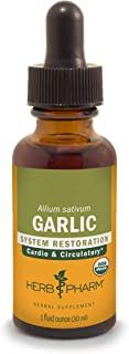 Herb Pharm Certified Organic Garlic Liquid Extract for Cardiovascular and Circulatory Support - 1 Ounce