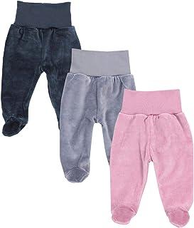 TupTam Polaina de Bebé para Niñas de Terciopelo, Pack de 3