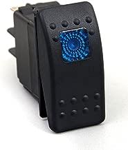 Daystar, Universal Rocker Switch with Blue Light, 20 Amp, Single Pole, KU80011, Made in America, Yellow