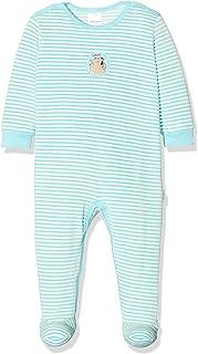 Schiesser Baby-Mädchen Ponyhof Anzug mit Fuß Zweiteiliger Schlafanzug