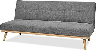 AmazonBasics - Sofá cama de tres plazas, 182 x 80 x 80, Gris oscuro
