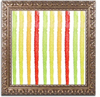 Aria IV by Color Bakery, Gold Ornate Frame 11x11-Inch