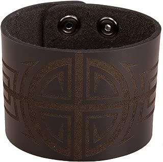 Bico Australia Sun Cross Leather Cuff Bracelet