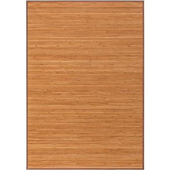 Alfombra de salón o Comedor Oriental marrón de bambú de 180 x 250 ...