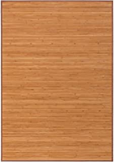 Alfombra pasillera Industrial marrón de bambú de 140 x 200 cm Factory - LOLAhome