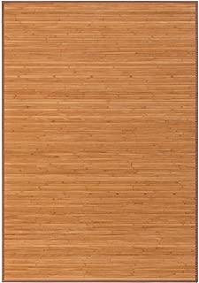 Alfombra pasillera Industrial marrón de bambú de 140 x 200