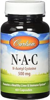 Carlson - NAC, N-Acetyl Cysteine, 500mg, Liver Health, Immune Function, Antioxidant, 60 Capsules