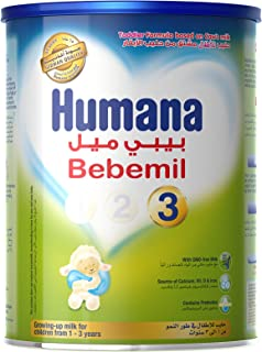 Humana BEBEMIL Stage 3 Powder Milk tin, From 1 to 3 years Infant Formula, 900g
