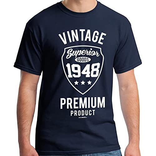 70th Birthday Gifts For Men Vintage 1949 T Shirt Navy Blue