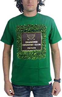 Diamond Supply Co. Mens Private Country Club T-Shirt, Small, Kelly Green