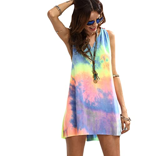 Clothing, Shoes & Accessories Stunning Multi Coloured Summer All In One Loose Cat Suit One Size From 8-12 New Women's Clothing