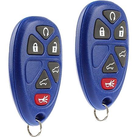 Key Fob Keyless Entry Remote fits 2007-2014 Chevy Tahoe Suburban / 2007-2014 Cadillac Escalade / 2007-2014 GMC Yukon (Blue), Set of 2
