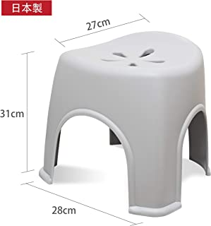 Boomo Boomo 風呂いす 高さ30cm (グレー) ワイド座面 (風呂椅子 バスチェア) 防カビ ・ 抗菌 風呂イス 通気性抜群【日本製】