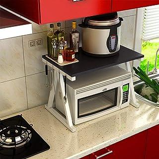 Rangement Cuisine Organisateur étagère Support Four étagères en métal solides industriels tout usage 2 Tier Cuisine Micro-...