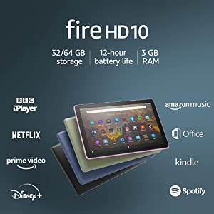 """All-new Fire HD 10 tablet   10.1"""", 1080p Full HD, 32 GB, Black - with Ads"""