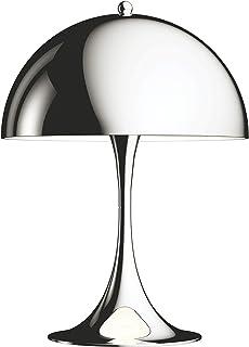 Panthella Mini Table Lamp, Louis Poulsen, Lámpara de sobremesa diseñada por Verner Panton (Cromado Muy Brillante)