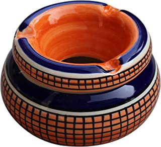 ABHANDICRAFTS Thanksgiving Christmas Day Best Gifts - Moroccan Round Ashtray 4