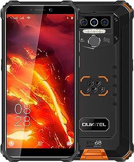 OUKITEL WP5 Pro IP68防水スマートフォン 8000mAh Android 10.0 4G アウトドアスマホ本体 SIMフリースマートフォン本体 4GB+64GB SONY13MP+5MP AIカメラ 携帯電話 LEDライト防災...