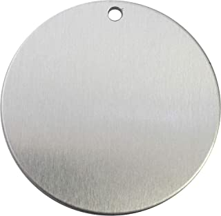 RMP Stamping Blanks, 2 Inch Round with Hole, Aluminum 0.063 Inch (14 Ga.) - 50 Pack