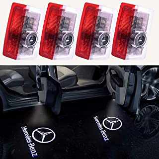 4PCS Benz Door Light LED Projector Benz Logo Welcome Lights Car Ghost Shadow Light Lamp Wireless for Benz E-class w212 C-class w205 A-class w176 B-class w246 (4 Pack)