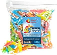 Nik-L-Nip Wax Bottles Candy Drinks, 3 LB Bulk Candy