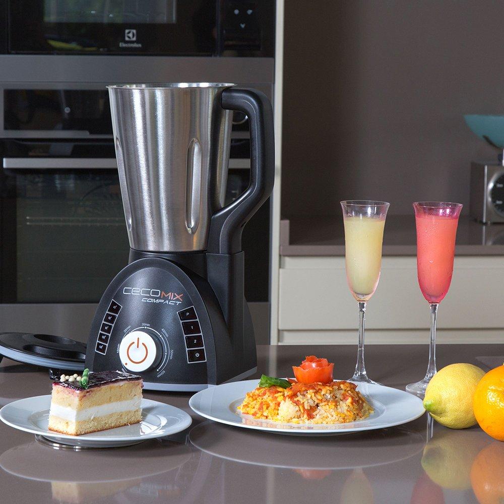 Robot de cocina multifunción que cocina y tritura. 2,8 litros de capacidad, Temperatura hasta 120ºC, 3 velocidades, y temporizador hasta 60 minutos. Cecomix Compact de Cecotec. (Cecomix Compact): Amazon.es: Hogar