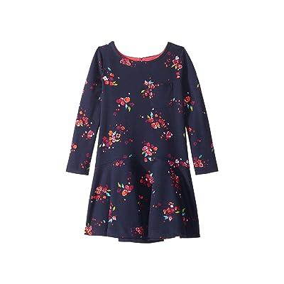 Joules Kids Mock Layer Dress (Toddler/Little Kids/Big Kids) (Navy Inky Ditsy) Girl