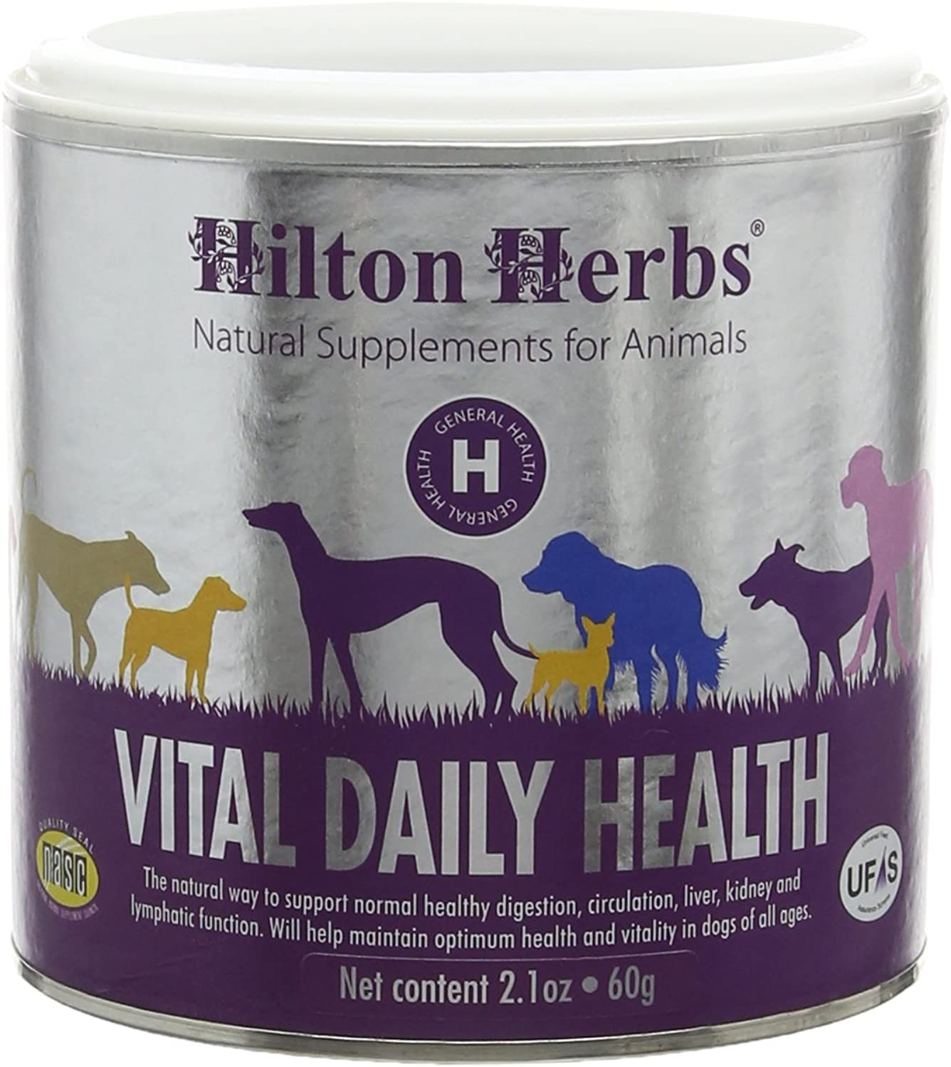 Hilton Herbs Canine Vital Daily Health Supplement for Dogs, 2.1 oz Tub