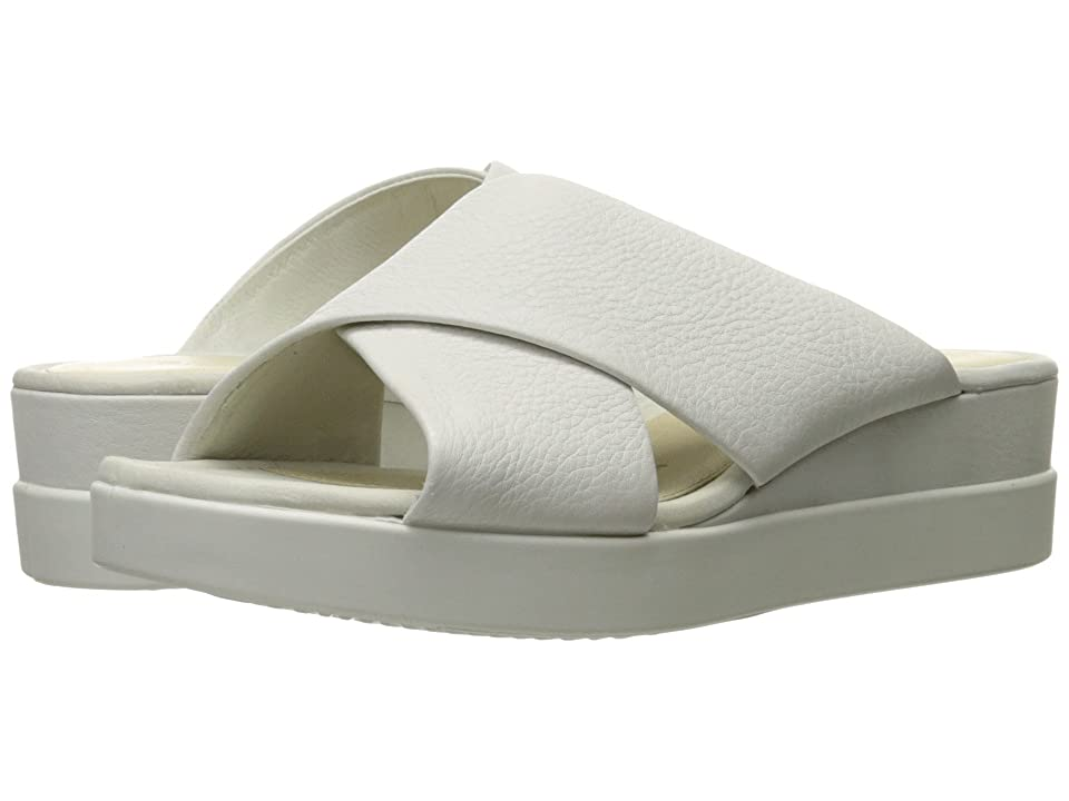 ECCO Touch Slide Sandal (White Cow Leather) Women
