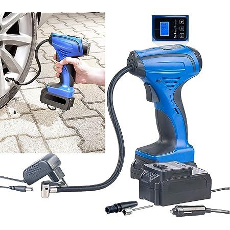 Agt Akkupumpe Akku Kompressor Luftpumpe Für Reifen Bälle U V M Lcd Bis 116 Psi Auto Luftpumpe Baumarkt