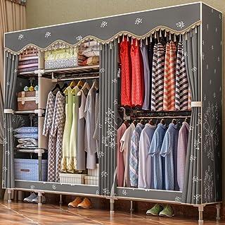 LyMei Armoire de Rangement, Stockage de Garde-Robe en Acier Inoxydable Portable vêtements Wardrobe Storage Organizer avec ...