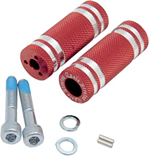 Cycle Pirates Standard 68mm Red Footpegs for 360 Adjustable Mounts FPSTD-R