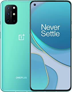 OnePlus 8T Aquamarine Green, 5G Unlocked Android Smartphone U.S. Version, 256GB Storage + 12GB RAM, 120Hz Fluid Display, Q...