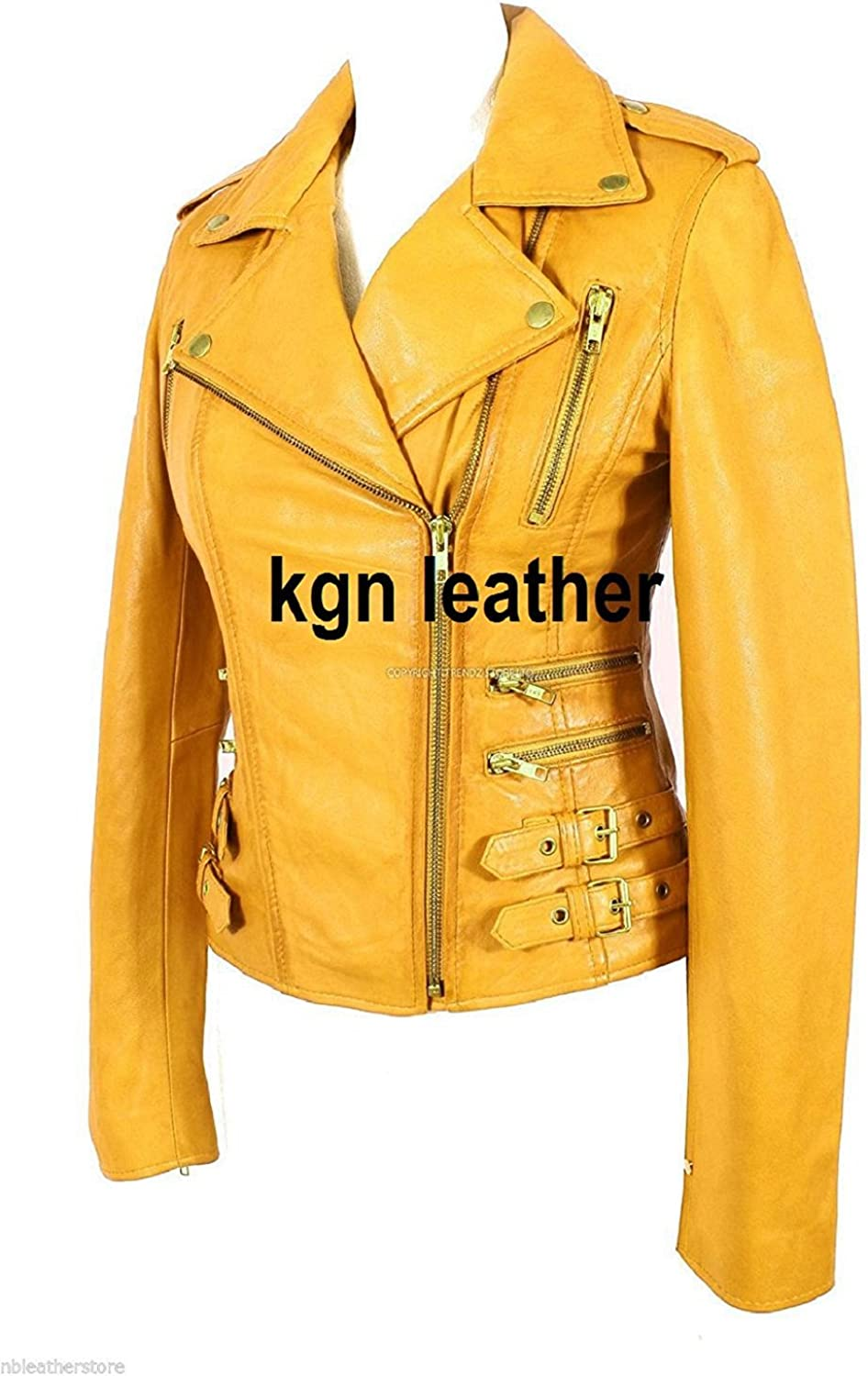 GENUINE SOFT INDIAN LAMBSKIN WOMENS LEATHER JACKET 04