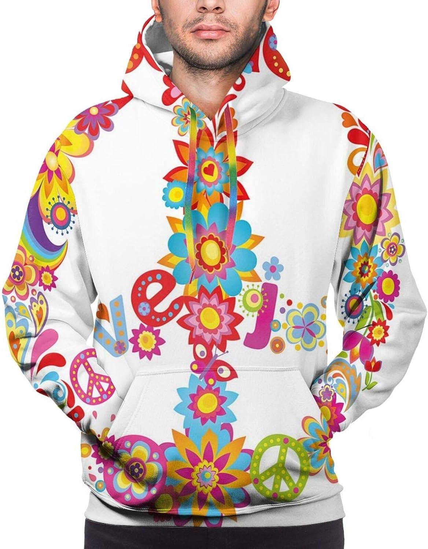 Men's Hoodies Sweatshirts,Paw Print Silhouette and Giant B Letter Background Custom Logo Design
