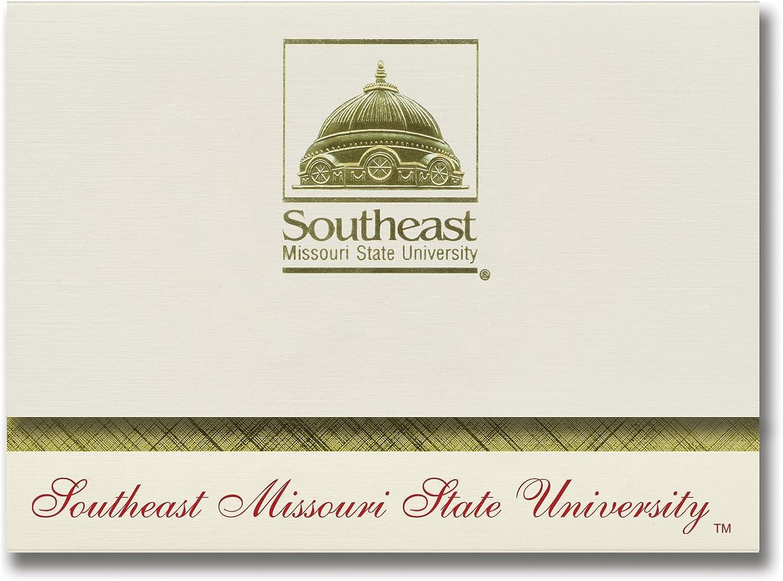 Signature Ankündigungen Southeast Missouri State University Graduation Graduation Graduation Ankündigungen, platin Stil, Elite Pack 20 mit Southeast Missouri State u. Dichtung Folie B0793NHM5T  | Ausgezeichnet  3e2a8f