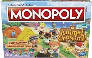 Hasbro Gaming Monopoly Animal Crossing New Horizons Edition Board Game for Kids Ages 8 and Up, Fun Game to Play for 2-4 Pl...