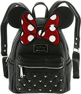 Loungefly Disney Minnie Mouse Bow Mini Faux Leather Backpack WDBK0208
