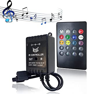 SUPERNIGHT Infrared Music Controller 20 keys IR Remote Controller Sound Sensor Controller For 5050 3528 5630 RGB LED Strip light Flexible