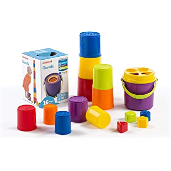 10 piezas Bloques apilables//encajables 42012 Color Baby