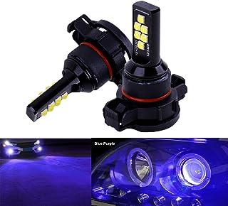 SOCAL-LED LIGHTING 2x H16 5202 LED Fog Light Bulb Advanced 3030 SMD Bright Colorful Daytime Running DRL Lamp, Blue Purple