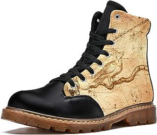 LORVIES Armillar Ball Constellation Constellation Carte Chouette Bottes d'hiver Chaussures Montantes en Toile à Lacets pou...